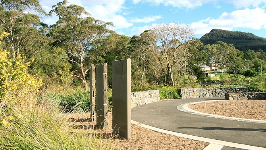 Pathway closeup: Mt Kembla Mine Memorial Pathway (Stage 2) and American Creek Rehabilitation Works Project