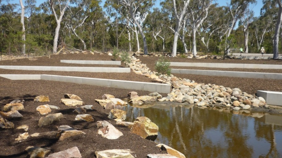 Placement of Sandstone Boulders: Rural Landscaping  Project